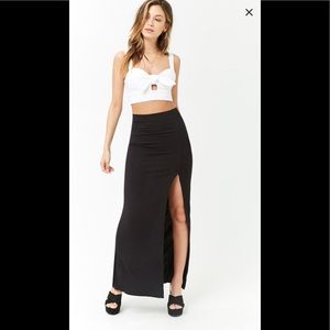 Bodycon Maxi Skirt with split